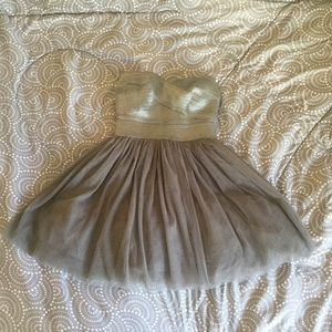Tulle Silver/Grey Love Culture Strapless Dress
